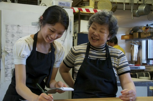 Yi Soon Kim and her daughter Esther