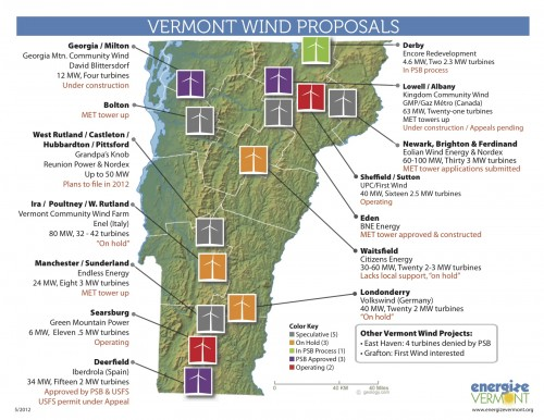 Vermont Wind Map, May 2012