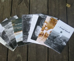 A selection of Robert Buckeye's chapbooks. Photo by Nancy Graff