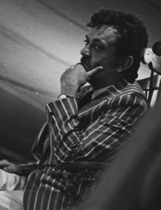 Kurt Vonnegut addressed the graduates and provided some advice. Photo by Greg Guma