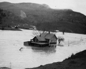 Bolton, 1927 flood. Vermont Historical Society