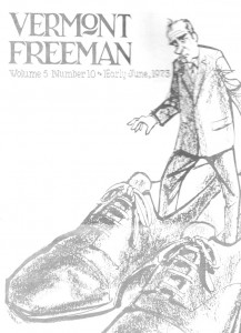 Vermont Freeman, Cover, June 1973