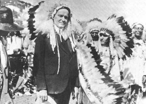 Calvin Coolidge was adopted by a Sioux tribe in 1927, but had Abenaki relatives. (Coolidge Presidential Library)