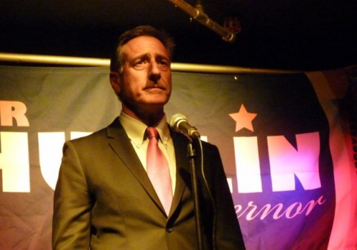 Gov. Peter Shumlin announces his bid for a second term at Nectar's in Burlington on Sept. 10, 2012. Photo by Anne Galloway