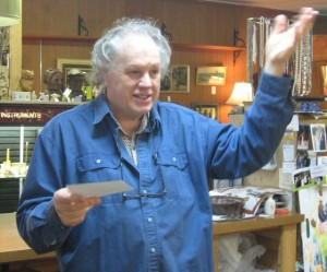 Robert Somaini runs the East Barre Antique Mall. Photo by Nancy Price Graff