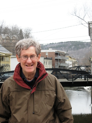 Robert McCullough, a founder of the Vermont Historic Bridge Program, which has developed plans for preservation of every truss bridge in the state. Photo by Nancy Price Graff