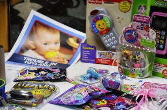 In its 28th annual Trouble in Toyland report, the Vermont Public Interest Research Group identifies dozens of potentially hazardous toys from national chains, dollar stores and malls around the state. Photo by Hilary Niles/VTDigger.