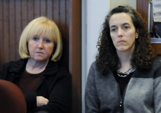 Labor Commissioner Annie Noonan (left) and Tracy Phillips, Unemployment Division Director, propose stricter requirements for layoff notices in Vermont. Photo by Hilary Niles/VTDigger