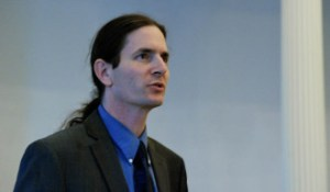 Sen. David Zuckerman, P/D-Chittenden, is the lead sponsor of a bill to require manufacturers to label products containing GMOs.  Photo by John Herrick/VTDigger