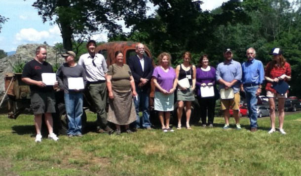 The Working Lands Enterprise Initiative awarded 37 grants for agriculture and forestry projects Tuesday at an awards ceremony at Grow Compost in Moretown. Photo by Katie Jickling/VTDigger