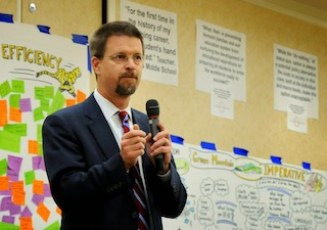 House Speaker Shap Smith, D-Morrisville, said education reform is an urgent priority of the upcoming legislative session. Photo by Hilary Niles/VTDigger