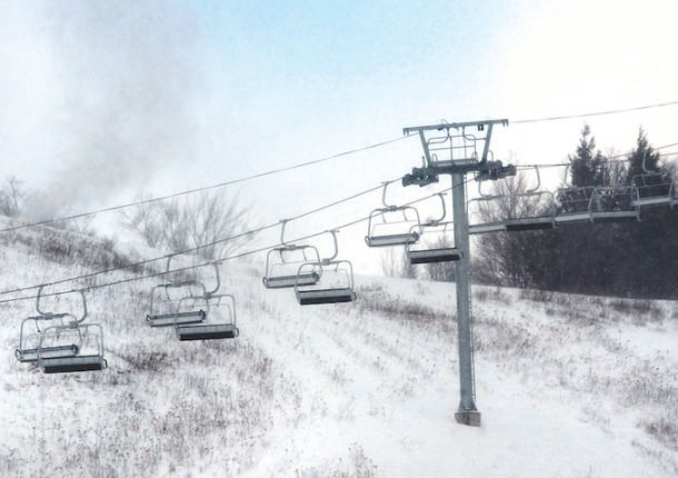 The new Meadows quad chairlift at Spruce replaces the old Alpine and Easy Street double lifts