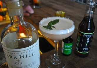"""Thai Basil Slip"" takes a bow with some of its key ingredients at the bar at Edson Hill resort in Stowe. Photo by Dirk Van Susteren"