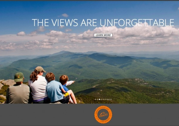 Vermont Department of Tourism and Marketing's website, VermontVacation.com