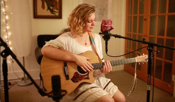 Grand Isle singer Julia Kate Davis wrote and performed a tribute song to Bernie Sanders – and wealth redistribution – in a May 19, 2015 You Tube video. Photo courtesy of the artist.