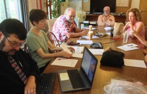 Members of the Vermont Nuclear Decommissioning Citizens Advisory Panel gather in Brattleboro on Wednesday, Sept. 2, 2015. Photo by Mike Faher/VTDigger