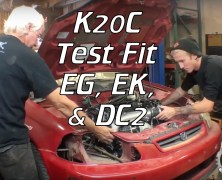 Test Fitting the K20C Type R Engine – EG, EK, DC2