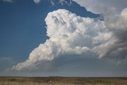 The updraft of the northern cell.