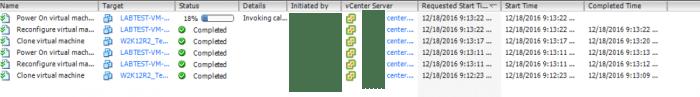 vCenter Task