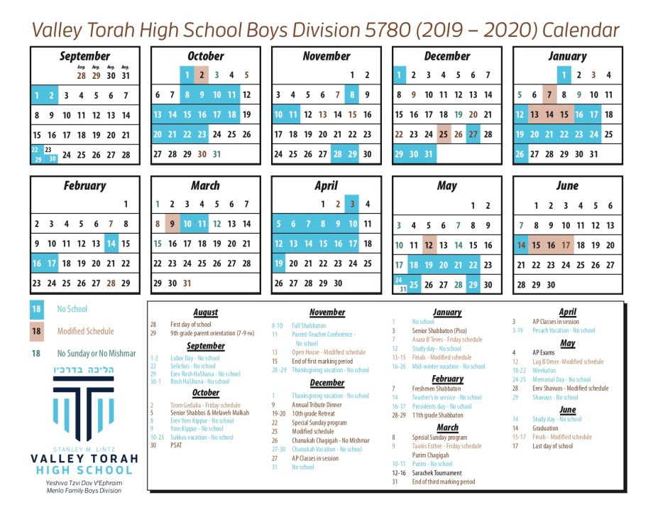 Calendar - boys 19-20