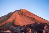 The peak El Teide at sunrise