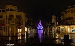Mainstreet U.S.A Disneyland Paris after closing time