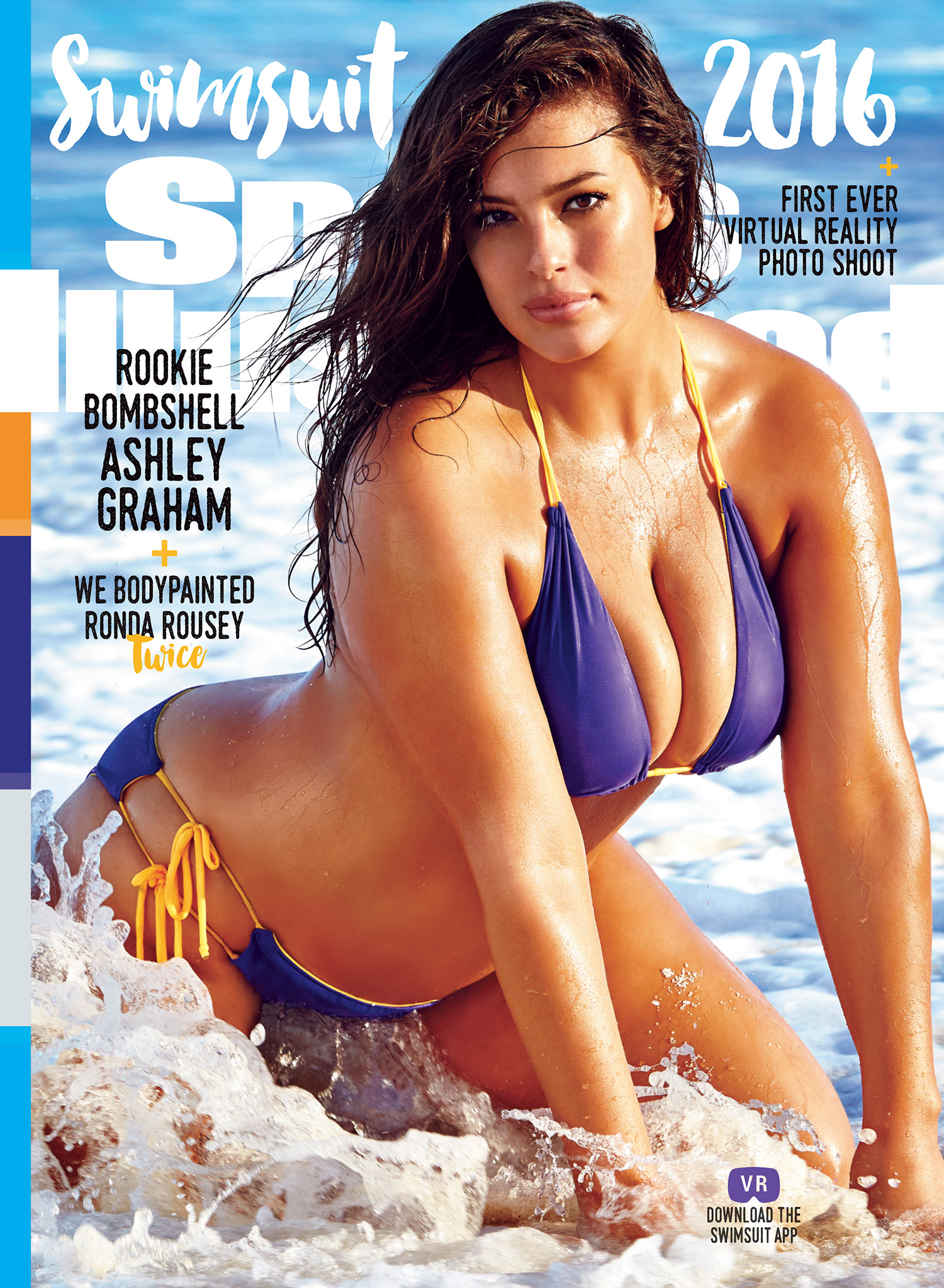 2016 Sports Illustrated cover featuring Ashley Graham