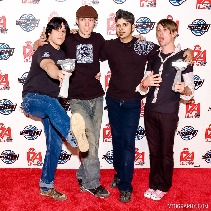 Billy Talent at the 2005 Much Music Video Awards, Toronto, on June 19, 2005