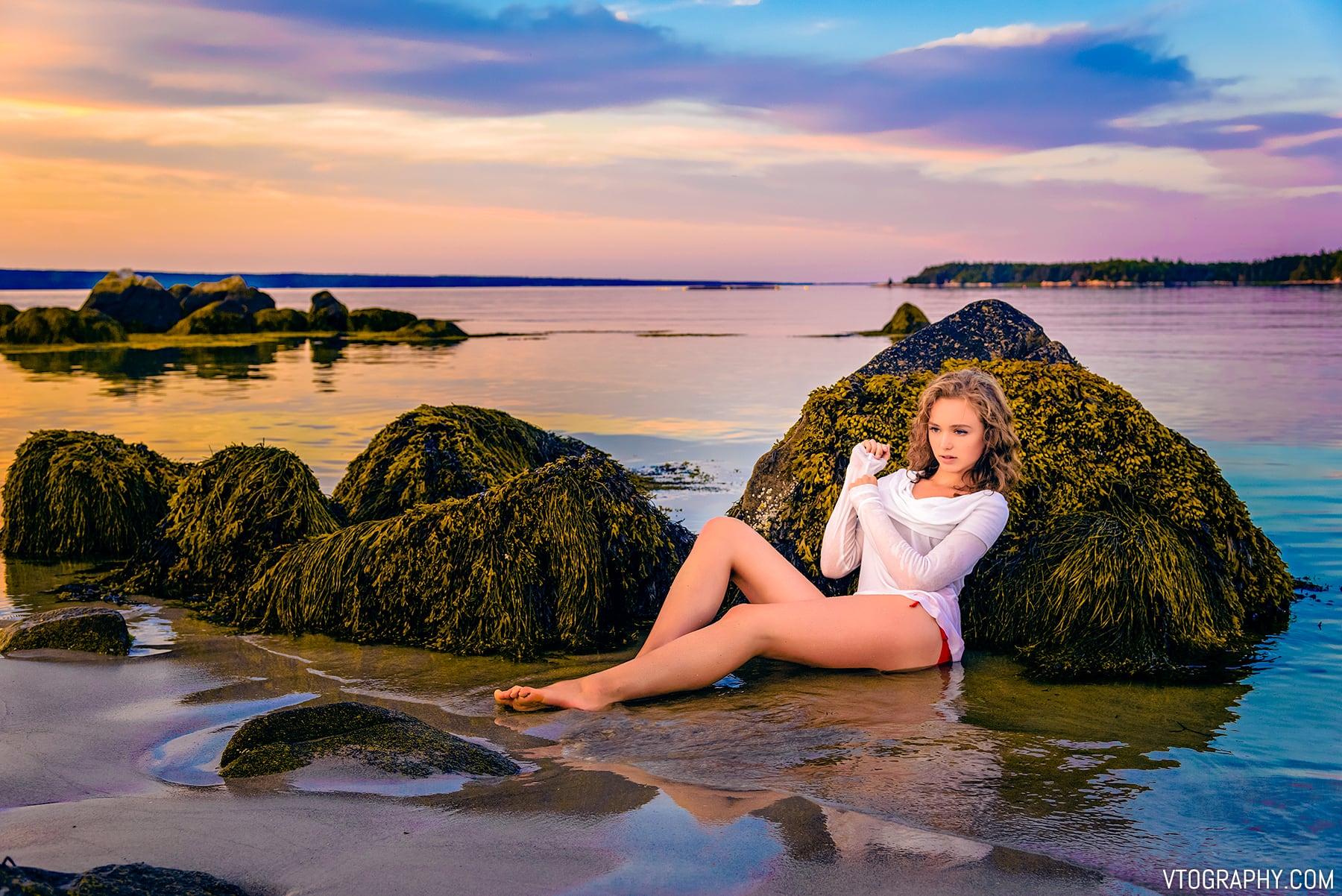 Carters Beach, Nova Scotia photo shoot with model Kathryn