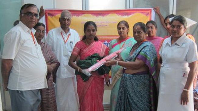 Coimbatore Arogya Vikas Donated Water Geysers Mosquito Nets
