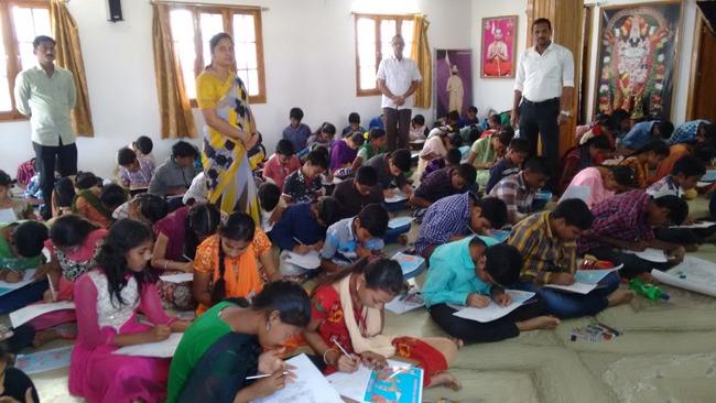 Vikasa tarangini Conducted Drawing Competitions in Rajam