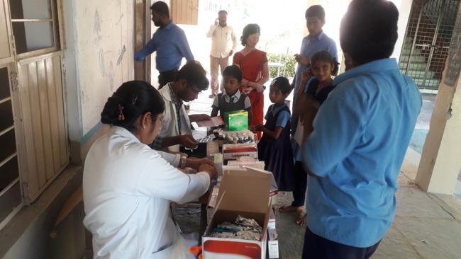 Free Medical camp at Govt schools at Karimnagar