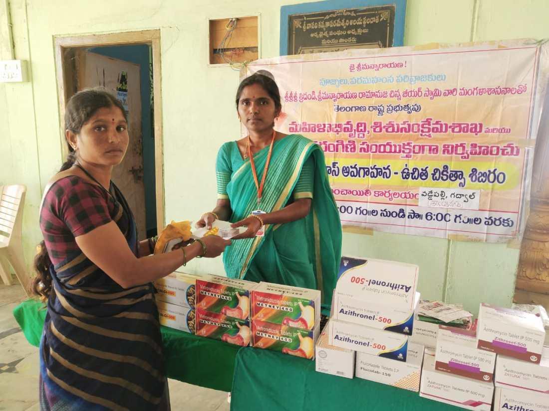 Mahilaarogya Vikas conducted Medical Camp at Vaddepally 3