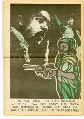 Black Panther newspaper back covers by Emory Douglas