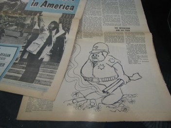 Police as a pig cartoon in the Black Panther newspaper