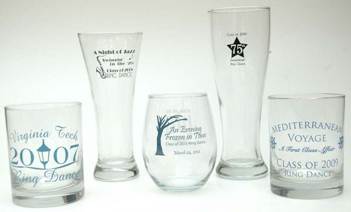 Drink glasses for various classes