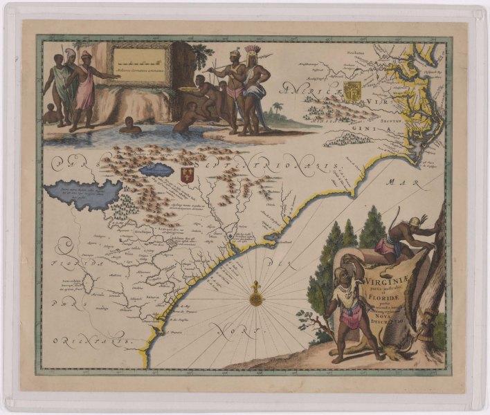 Virginiæ Partis australis, et Floridæ partis orientalis, interjacentiumque regionum Nova Descriptio, c. 1671