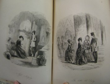 Each volume of Bleak House features two illustrations at the front, like these from volume I