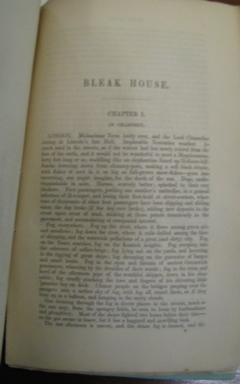 First page of volume I from Bleak House.