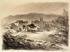 Sketch of Virginia Tech by G. Preston Frazer