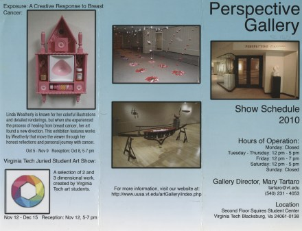 Brochure for the Perspective Gallery