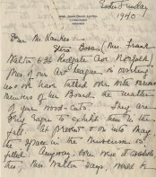 Letter from Mary Sinton Leitch to J. J. Lankes, Easter Sunday 1940 (1)