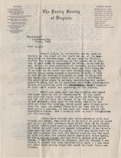 Mary Sinton Leitch to J. J. Lankes, February 1945 (1)