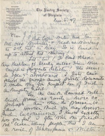 Mary Sinton Leitch to J. J. Lankes, March 1947 (1)