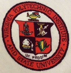 Needlework of the Virginia Tech seal