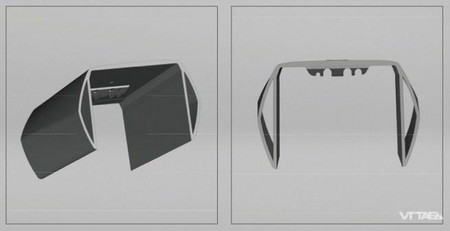 """À la base, l'idée d'intégration de la batterie repose sur le concept d'un cadre périmétrique : deux tubes qui entourent la batterie de part et d'autre, reliés par une face supérieure qui """"ferme"""" l'emplacement."""