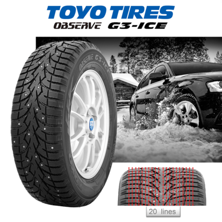 Toyo G3-Ice Stacked
