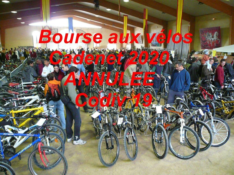 La bourse aux vélos de Cadenet 2020 est annulée