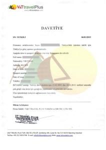 mẫu thư mời xin visa đến đại sứ quán Thổ Nhĩ Kỳ tại Việt Nam