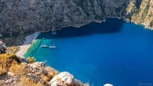 Bãi cát trắng và làn nước trong xanh ở Mugla Oludeniz